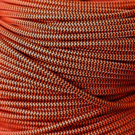 Snoer rood/zwart zigzag