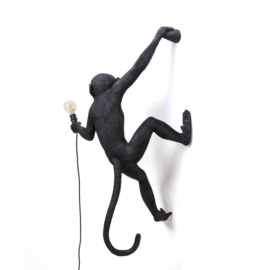 Seletti - Monkey lamp hangend links zwart