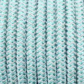 Snoer salie/linnen zigzag
