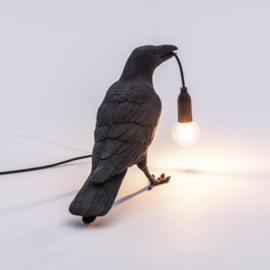 Seletti - Bird lamp 'Waiting' zwart