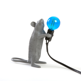 Mouse lamp staand grijs