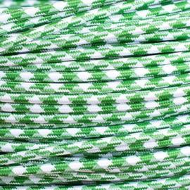 Snoer groen/wit pied-de-poule