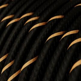 Snoer zwart/goud gestreept