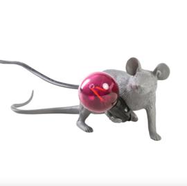 Mouse lamp liggend grijs