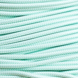 Snoer mintgroen/wit zigzag