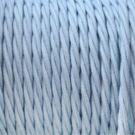 Snoer katoen lichtblauw gedraaid