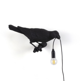 Seletti - Bird lamp 'Looking right' zwart