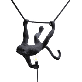 Seletti - Monkey lamp swing zwart
