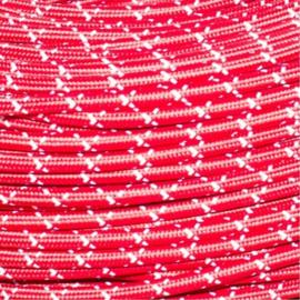 Snoer rood/wit geruit
