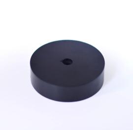 Plafondkapje zwart hout