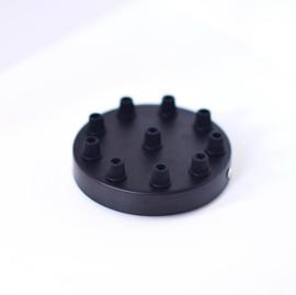 Plafondkapje zwart - 10 gaten