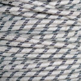 Snoer linnen/antraciet gestreept
