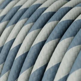 Snoer blauw/grijs gestreept