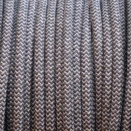 Snoer linnen/antraciet zigzag