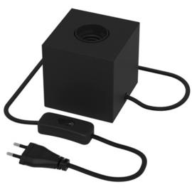 Tafellampje kubus - zwart