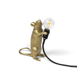 Mouse lamp staand goud