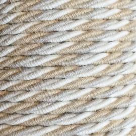 Snoer geaard linnen/jute/katoen gedraaid
