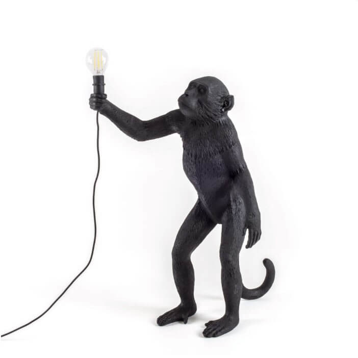 Seletti - Monkey lamp staand zwart