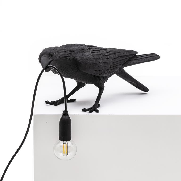 Seletti - Bird lamp 'Playing' zwart