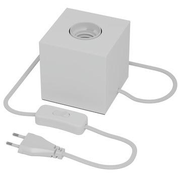 Tafellampje kubus - wit