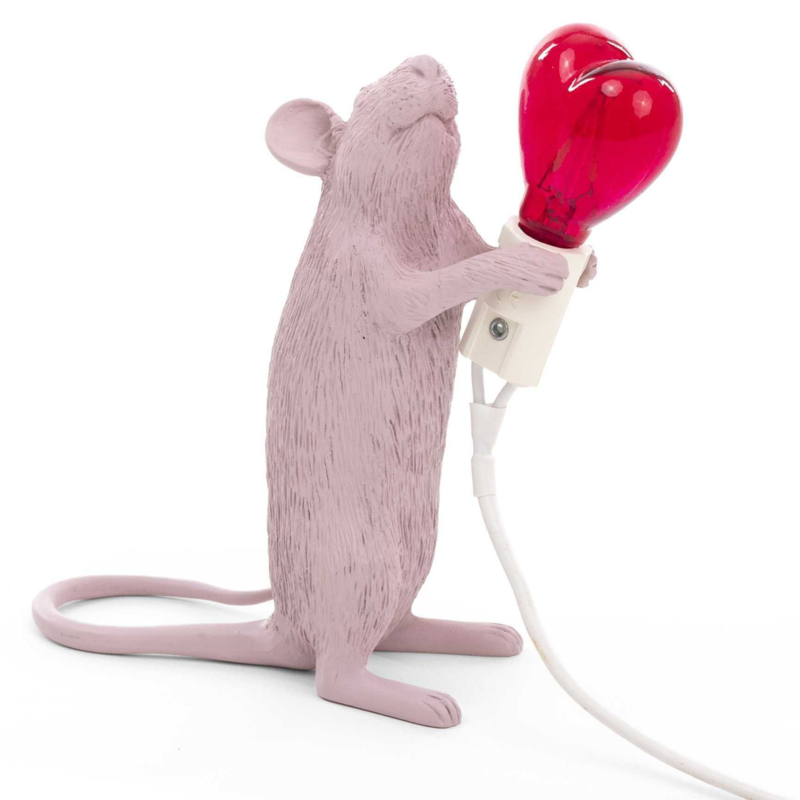 Mouse lamp staand roze LIMITED