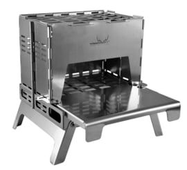 Backpack Stove Titanium  including Table Board+Bottom Tray Titanium