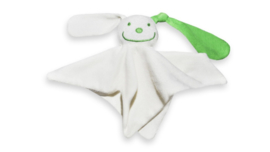 Tutpoppetje ecru groen oor
