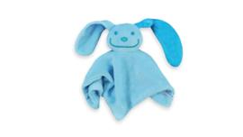 Tutpoppetje blauw met turqoise oor