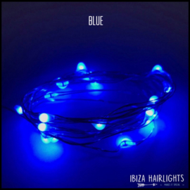 Ibiza hairlights blue