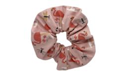 Scrunchie flamingo roze
