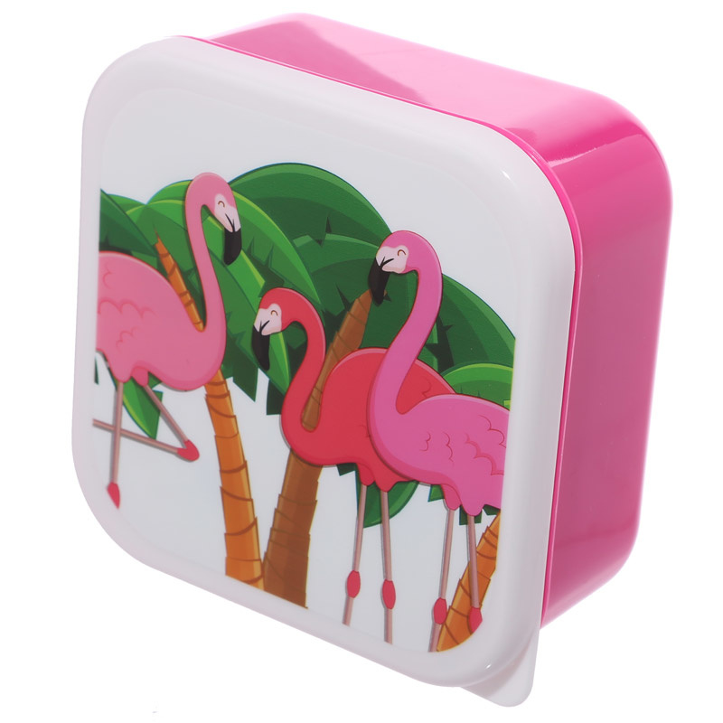 Lunchtrommels flamingo