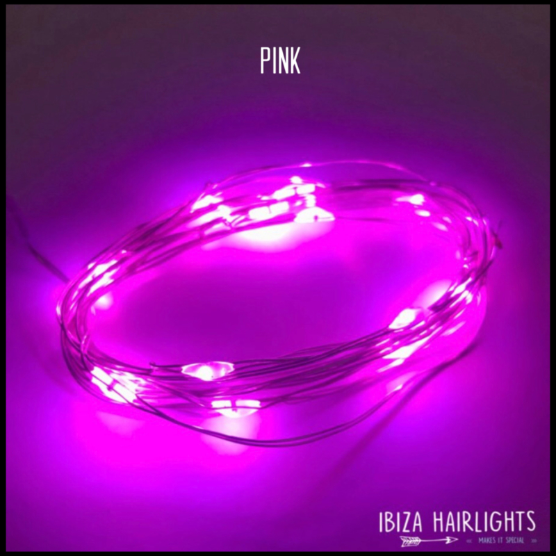 Ibiza hairlights Pink