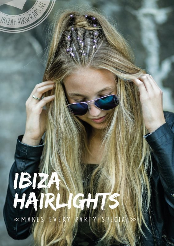 Ibiza hairlights lilac