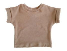 shirt badstof sand