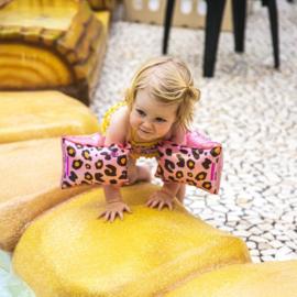 Rosé gouden Panterprint Zwembandjes 2-6 jaar