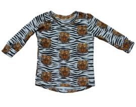 Shirt tijger Zwart/wit