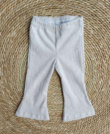 flared pants  sand rib