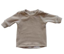Shirt rib velour sand