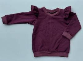 ruffle sweater  bordeaux
