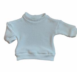Oversized Trui big knit off white