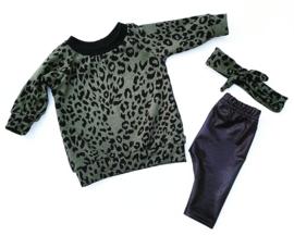 sweaterdress khaki leopard