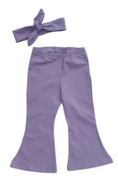 flared pants lila