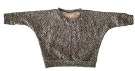 Oversized shirt leopard sand