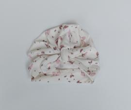 Turban leafy old pink