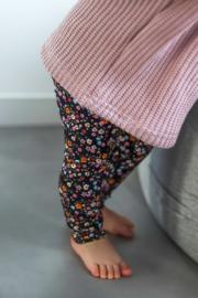 Legging donkere bloem