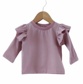 ruffle shirt oud roze