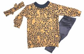 sweaterdress oker leopard