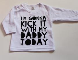 i'm gonna kick with daddy