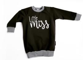sweaterdress little miss zwart