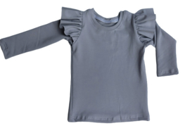 ruffle shirt l.grey